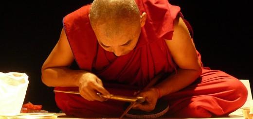 salon Zen et Qi, moine tibétain